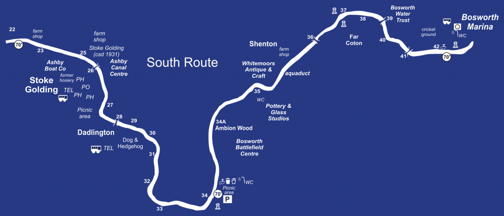 Canal Boat Hire Cruising Routes - South Route